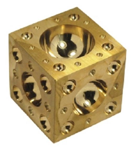 2 x 2 x 2 Polished Brass Dapping Block