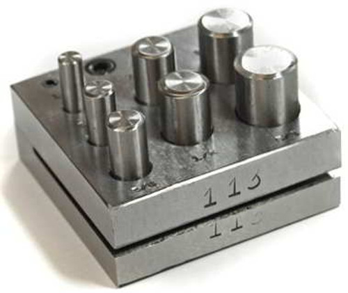 """7 Piece Disc Cutter Punch Set  1/4, 5/16, 3/8, 7/16, 1/2, 9/64, and 5/8"""""""