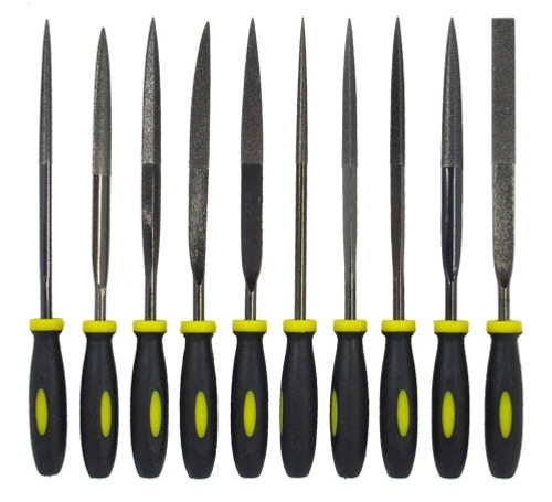 Lapidary Files 10Pc 5mmx 170mm Diamond File Set 120 Grit