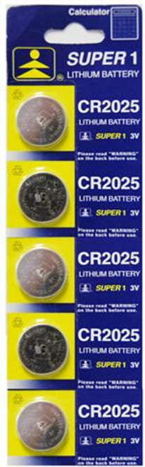 CR2025 Button Cell Batteries 5PC