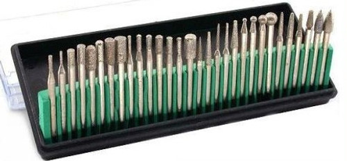 30pc Assorted Diamond Burr Set : 40 Grit