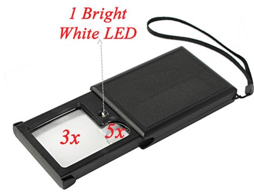 Dual Lens Illuminated Sliding Magnifier 3x, 6x