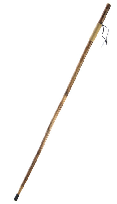 """Rope Wrapped Wooden Walking/Hiking Stick with Hand Carved Eagle Design 55"""""""