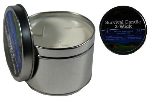 3 Wick Emergency Soy Wax Candle