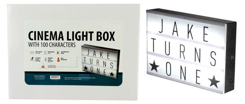 Cinema Light Box Customized Lettering