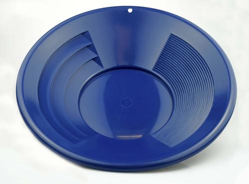 "14"" Deep Riffle Gold Pan Blue"