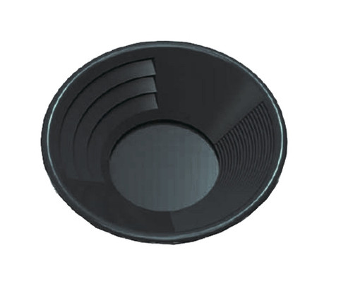 "10"" Deep Riffle Gold Pan Black"