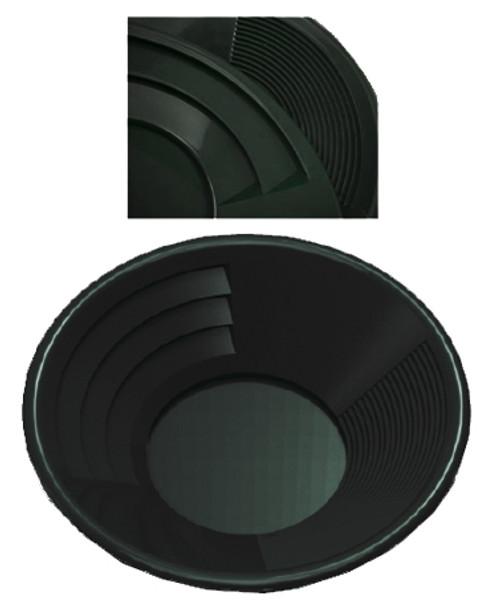 "14"" Deep Riffle Gold Pan Black"