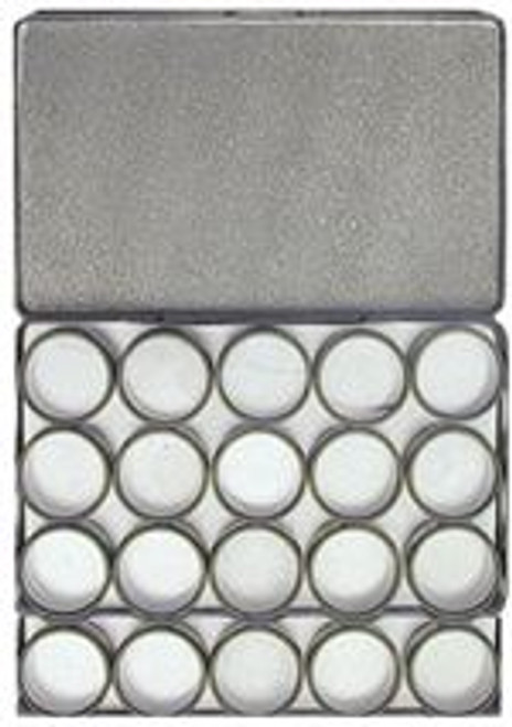 20PC Clear Top Aluminum Jewelry Storage Cases
