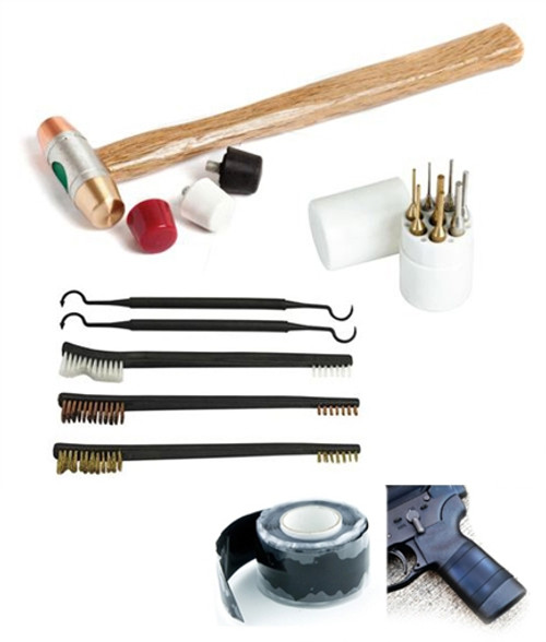 Deluxe Gunsmithing Tool Kit Combo Punches Brushes & Hammer And Tips