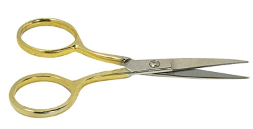 Premium Half Gold Color Embroidery Scissors 3-1/2""