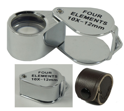 10X 12MM Professional Quality Four Elements Quadruplet Jewelers Loupe
