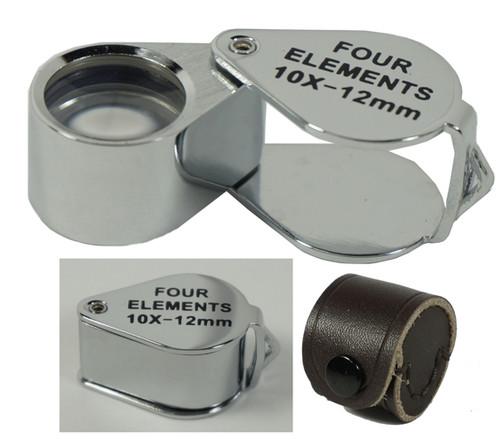 10X 12MM Professional Quality Four Elements Quadruplet Jewelers Loupe