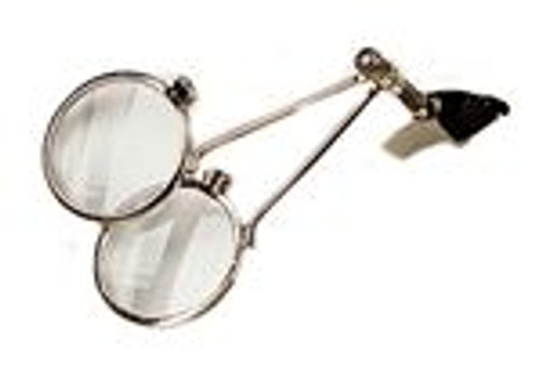 Steam Punk Clip-On Double Glass Eye Loupe 10X-10X Magnifier