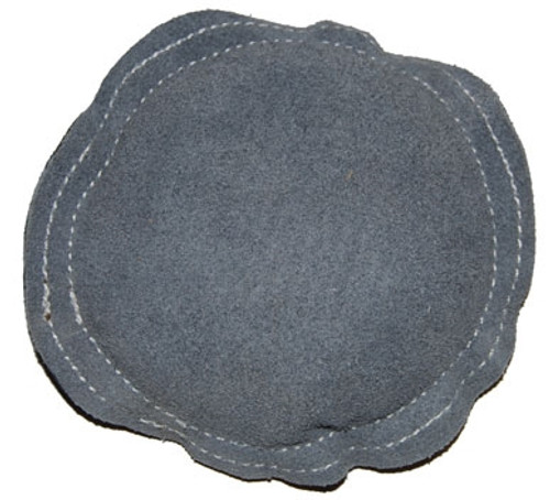Grey Leather Round Bench Block Sand Pad 5""