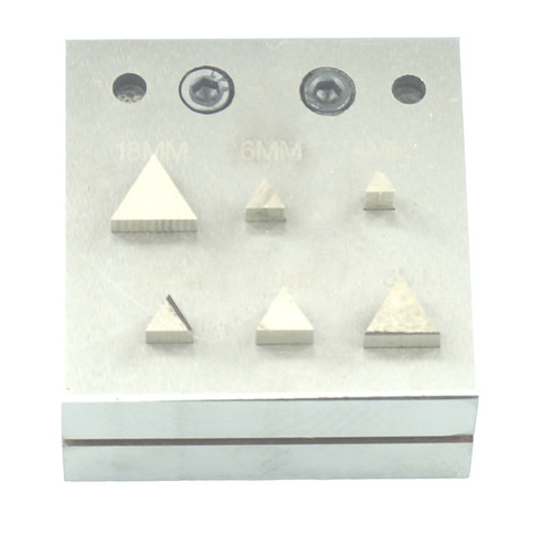 Jewelry Disc Cutter Triangle Shape 6 Piece