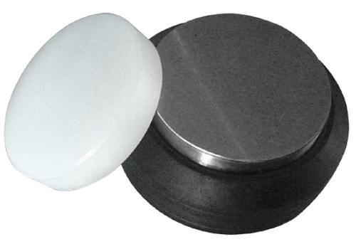 "3"" Steel And Nylon Round Block Rubber Base"