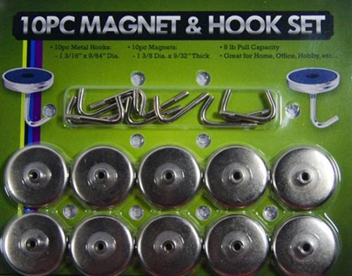 Magnetic Hook Set 10PC