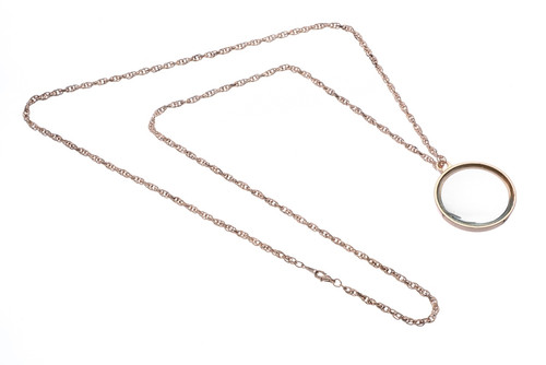 Rose Gold Necklace Chain Magnifier