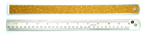 "Cork Bottom Non Skid 12"" Steel Ruler"