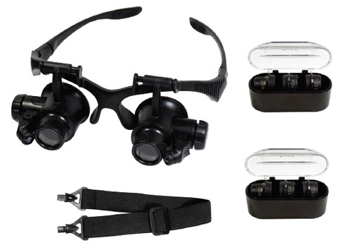 Hands Free Glasses Style Led Lit With 4 Lens