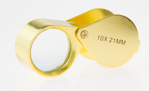 10X21mm Jewelry Gold  Loupe Metal Body
