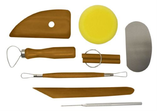 8pc Mahogany Pottery Tool Set