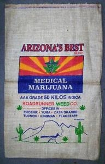 Arizona's Best Medical Burlap Weed Bag