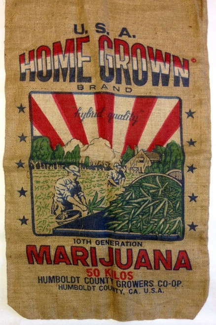 Home Grown Humbolt Medical Burlap Weed Bag