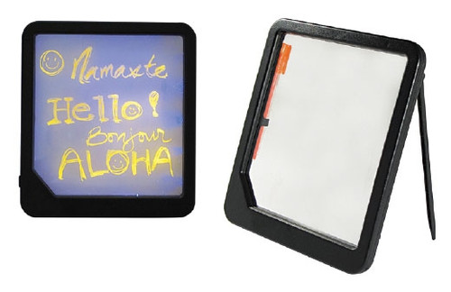 Neon Blackboard Trade Show Pricing Display Board