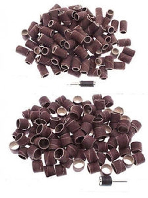 "Sanding Band Sleeves 1/4""- 100 Pc Bag With 2 Mandrels"