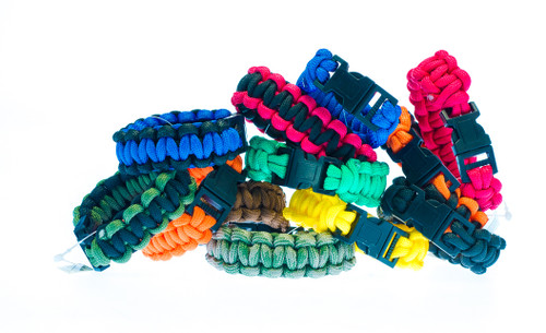 "Paracord Bracelet 8""  24PC Display"