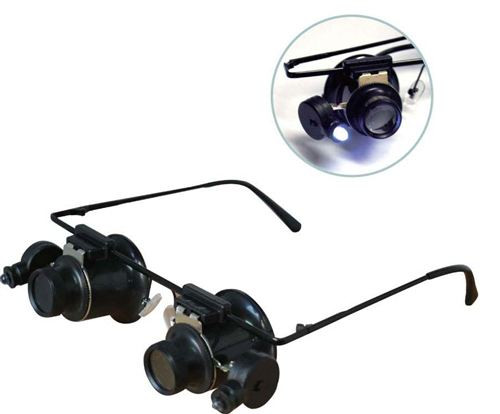 Hands Free 10X Loupes With Super Bright Dual LED