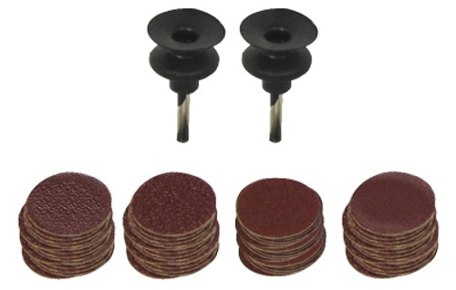 "102 Pc 1/2"" Sanding Disc with Two Rubber Mandrels"