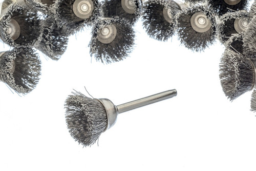 "Stainless Steel Wire Cup Brush 3/8"" Box Of 36"