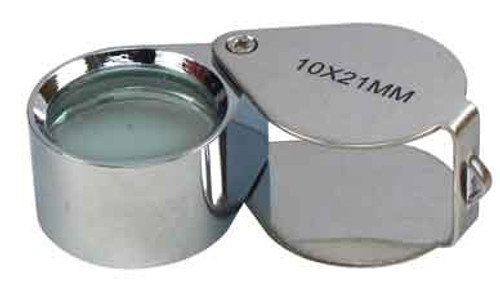 Silver 10X21mm Glass Double Loupe