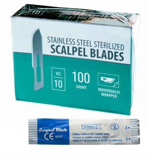 #10 100 Piece Scalpel Blade Set
