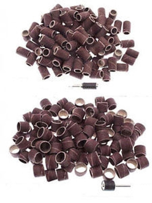 "100PC 1/4""X1/2"" Variety Sanding Bands For Rotary Tools"