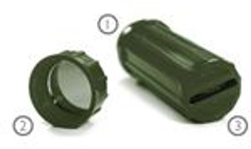 `-EDC- Every Day Carry Military Green 3 In 1 Water Resistant Storage Container