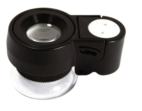 Stamp Loupe With Light and UV Led 16X21mm Lens