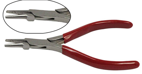 "5"" Half Round Stainless Needle Nose Plier"