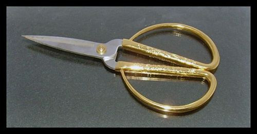 "Chinese Scissor Bonsai 7"" Gold Handle"
