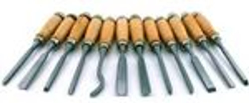 12pc 8 Professional Wood Carving Chisel Set
