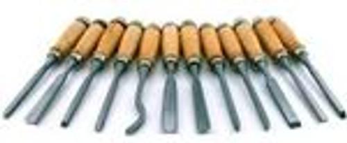 12pc 8 Professional Wood Carving Chisel Set