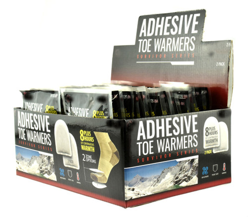 Toe Warmers With Adhesive Backing 36PC Display