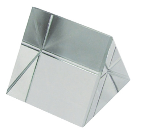 "White Glass Prism 2"" X 2"""