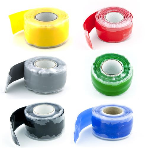 X Tape Made in USA Silicone Self Fusing  6 Color Combo Pack 60'
