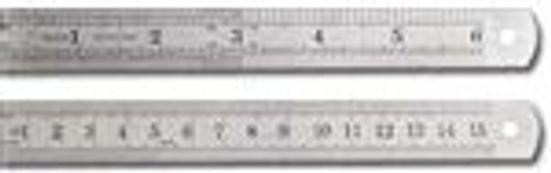 "Double Sided 6"" Stainless Rulers 2Pc"