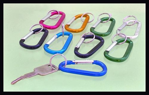 Aluminum Carabiner Key Chain 3.25 X 8mm 60 Piece
