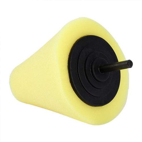 wax buffing cone for automotive wax polishing